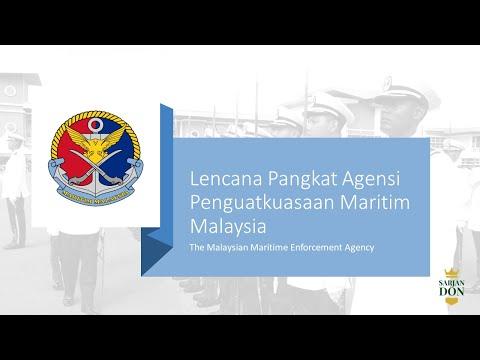 Lencana Pangkat Agensi Penguatkuasaan Maritim Malaysia (The Malaysian Maritime Enforcement Agency)