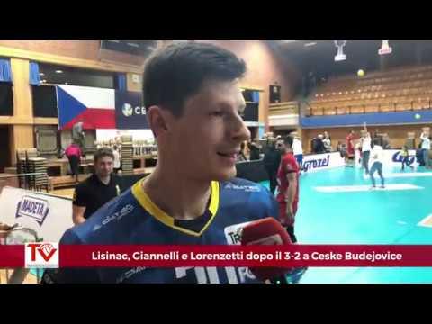 Lisinac, Giannelli e Lorenzetti dopo il 3-2 a Ceske Budejovice in Champions