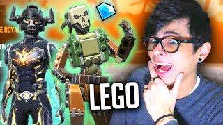 GASTEI 3600 DIAMANTES NO LEGO REI CAVEIRA TIJOLINHO FREE FIRE COM IRMÃOZINHO gastando jogo tijolos