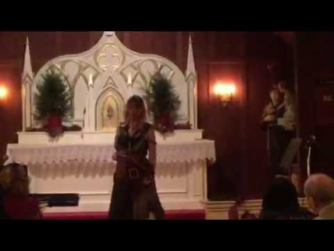 Renee de la Prade Christmas performance at St. Mary's in Nicasio, CA