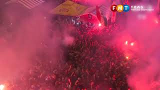 World Cup: Croatia fans celebrate reaching final for first time