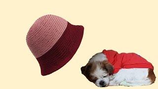 ((코바늘)) 봄 벙거지 모자
