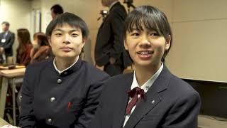 商業高校生が英語でビジネスプランを発表する