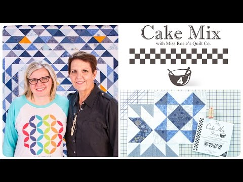 Cake Mix Recipe #4: Triangle Paper for Layer Cakes by Miss Rosie's Quilt Co. of Moda Fabrics: