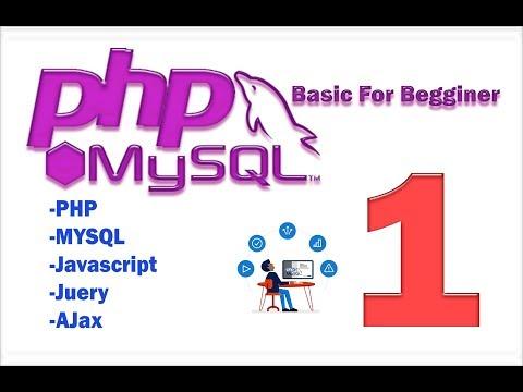 PHP MySQL Tutorial part 1 (basic) - create connection
