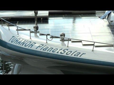 World's largest solar ship crosses Atlantic twice