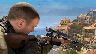 Sniper Elite 4 Stealth Gameplay: Authentic Plus Difficulty & Stealth Kills