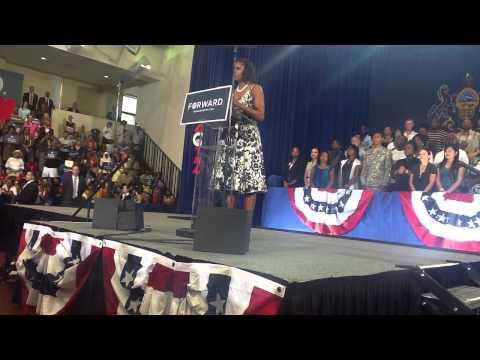 Michelle Obama In West Philadelphia August 2012 Pt. 2