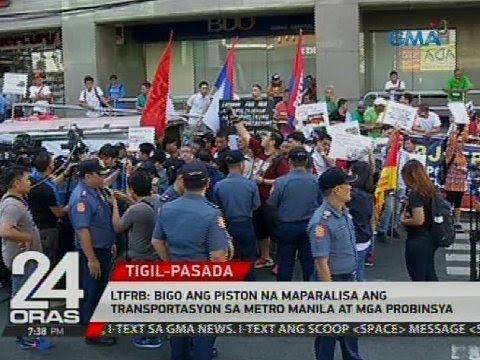 LTFRB: Bigo ang Piston na maparalisa ang transportasyon sa Metro Manila at mga probinsya