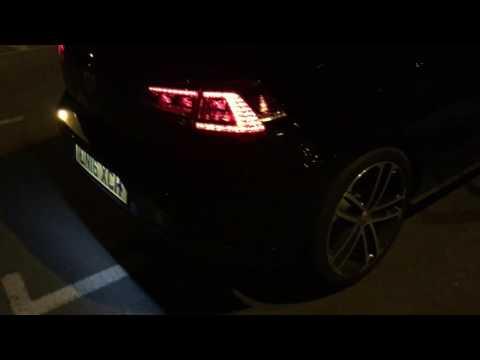 VW Golf Mk7 GTD - Interior and Exterior lighting at night