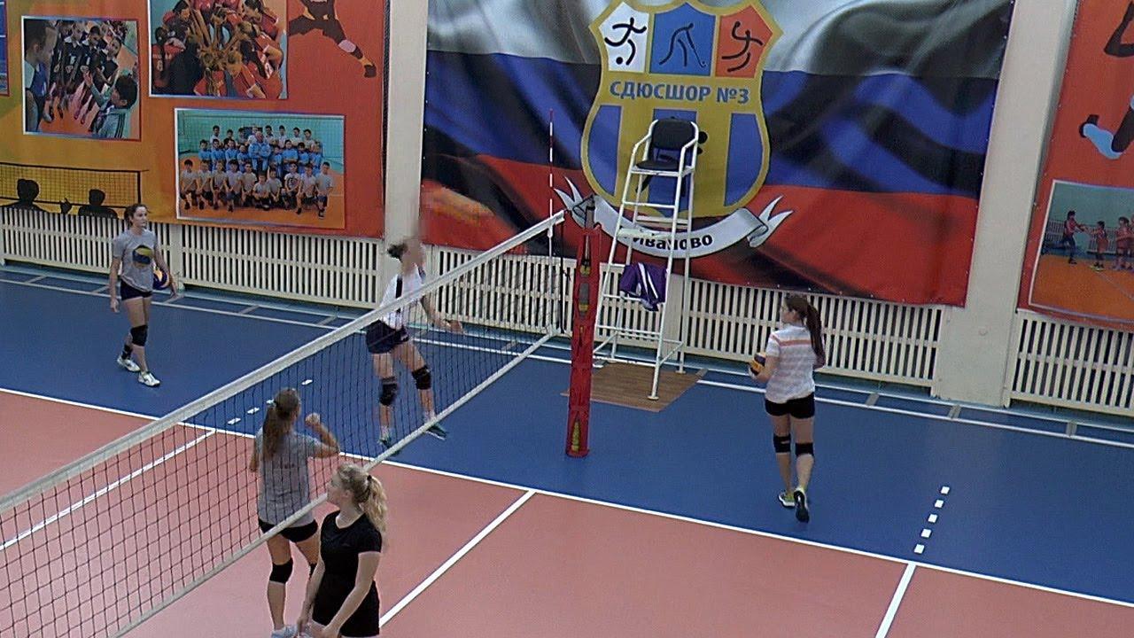 Волейбол. Нападающий удар. Тренировка команды Воронежской области. Часть 7