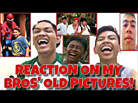 REACTION ON MY BROS OLD PICTURES! (Free Laptop & Free Brusko Shirt)