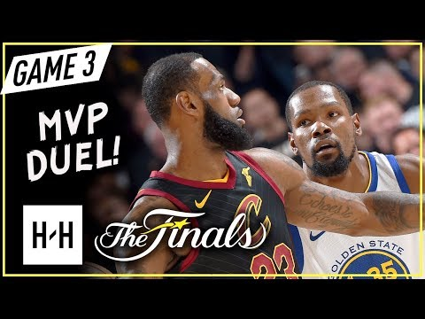 LeBron James vs Kevin Durant EPIC Game 3 Duel Highlights (2018 NBA Finals) - KD CLUTCH SHOT!
