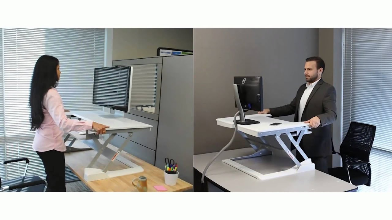 Easily Convert Your Desk Into A Sit Stand Workstation With
