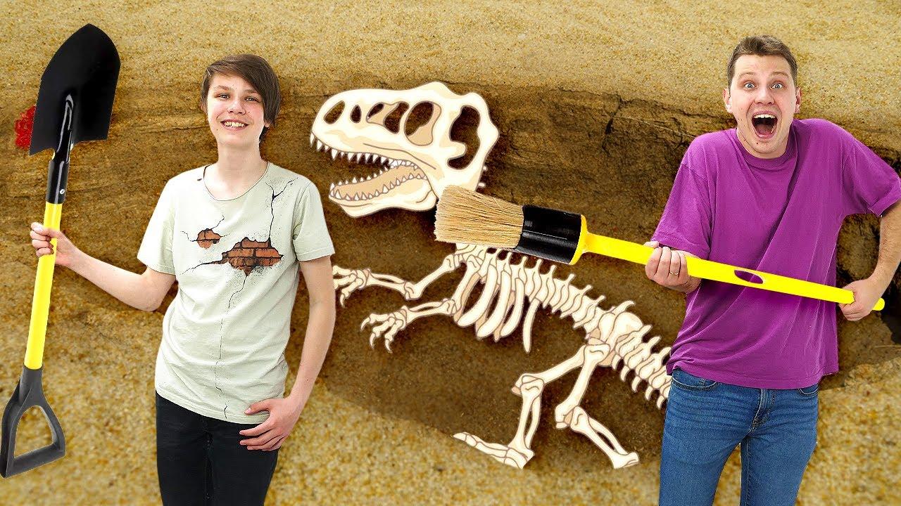 Трансформеры и ОЖИВШИЕ динозавры! Видео игры для мальчиков про машинки