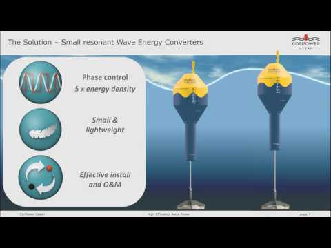 13 - Resonant Wave Energy Converter by CorPower Ocean: Sweden - 2016 Ocean Exchange Finalist