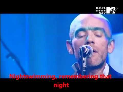 rem nightswimming lyrics live