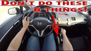 6 речей, які не можна робити за кермом механічна коробка передач