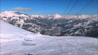 Beautiful mountains of Alps, France, ski resort Pra Loup - Val d'Allos
