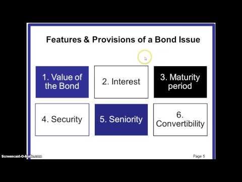 Debt Financing- Bonds