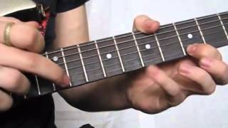 Аккорды для игры на гитаре  Строенный теппинг