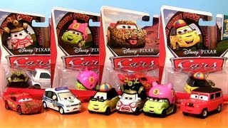 "24 Cars CASE ""N"" Disney Pixar Cars 2 Chase Yukio, Takeshi, Hiroaki Nature Drive Lightining McQueen"