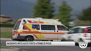 TG BASSANO (17/06/2019) - INCIDENTE MOTO AUTO FERITO 47ENNE DI PIEVE