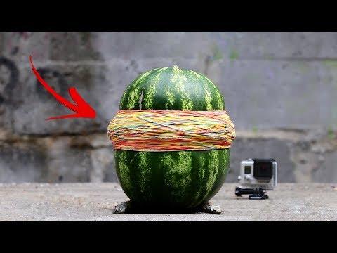 experiment:-watermelon-vs-1000-rubber-band