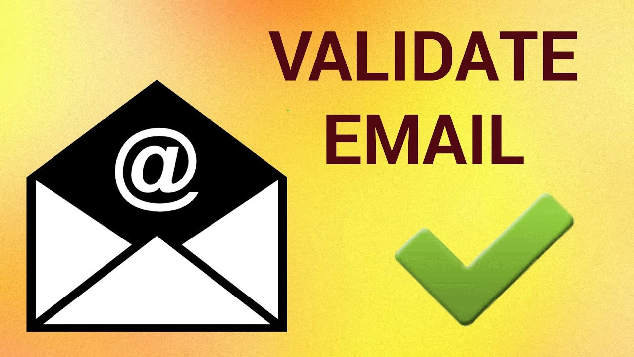 Confirm an Email Address Readily