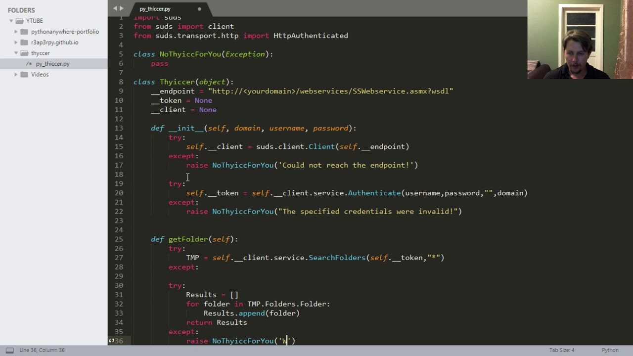Python - Thycotic API, pulling folders and secrets