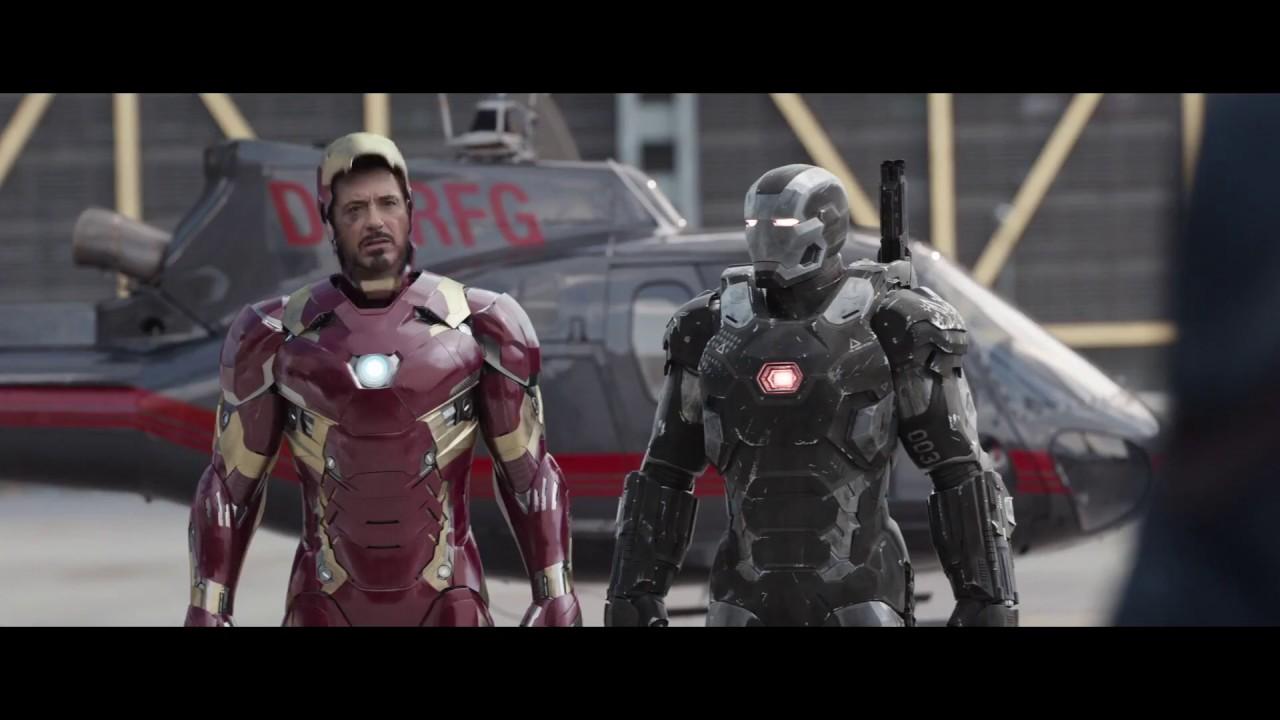 Iron Man All Suit Up & Transformation- Civil War (Blue ...