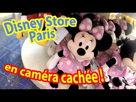 DISNEY STORE PARIS Champs Elysées en CAMERA CACHEE - On visite la capitale ! (Partie 2)