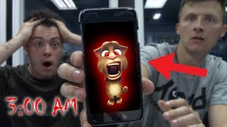 *SCARY* DO NOT CALL TALKING TOM AT 3 AM (PHONE DISAPPEARS)