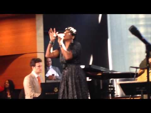tasia performs Stormy Weather at After Midnight on Broadway p