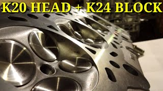 Installing the k20 head on the k24