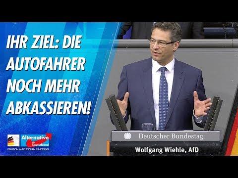 Ihr Ziel: Die Autofahrer noch mehr abkassieren! - Wolfgang Wiehle - AfD-Fraktion im Bundestag