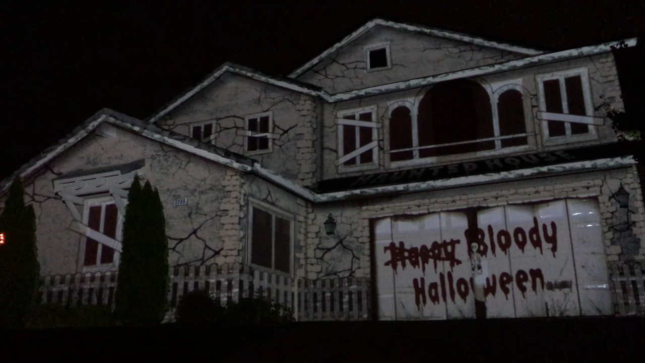 halloween house projection 2016 hd - Halloween House Pictures