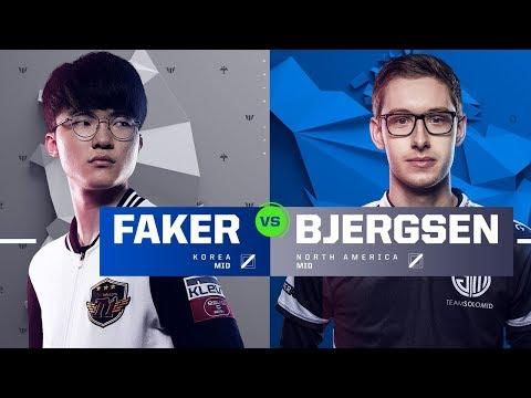Faker vs. Bjergsen | Quarterfinals | 1v1 Tournament | 2017 All-Star Event