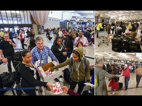 Chick fil A feeds stranded Atlanta travelers on Sunday