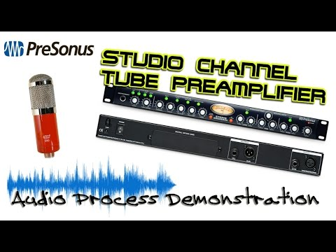 PreSonus Studio Channel Mic Tube PreAmp Audio Demo