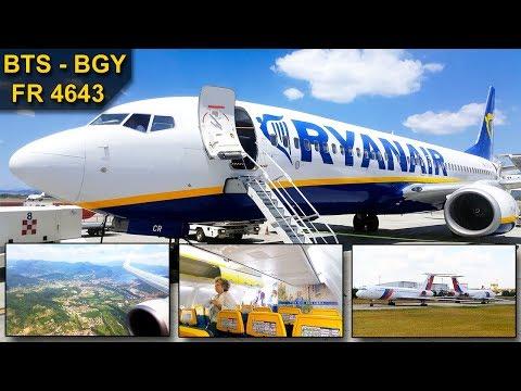 TRIP REPORT | Ryanair | BRATISLAVA - BERGAMO | NEW SEATS & OLD CABIN | Boeing 737