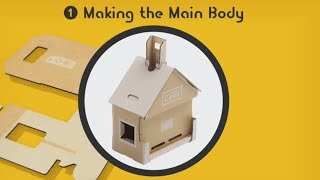 Toy-Con House ~ 1 Making the Main Body ~ LABO 01 Variety Kit ~ NO COMMENTARY