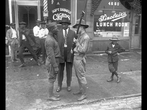 The Chicago Race Riots of 1919 - Armed Black Men of Chicago stay on Code.