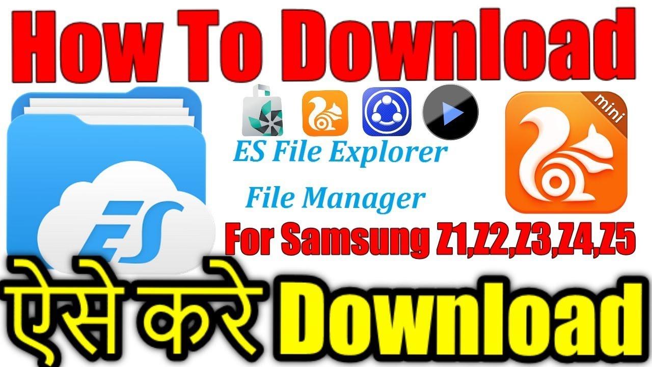 How to download/Install ES FILE Explorer tpk file For Samsung  Z1,Z2,Z3,Z4,Z5 for tizen store