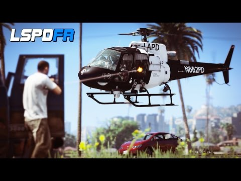 GTA 5 - LSPDFR Ep288 - SWAT Helicopter Fights Gangs!!