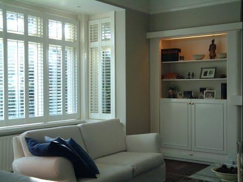 Wooden Shutters Interior Bay Window Design Youtube