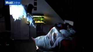 boyfriend s terrifying wake up prank on girlfriend using giant puppet
