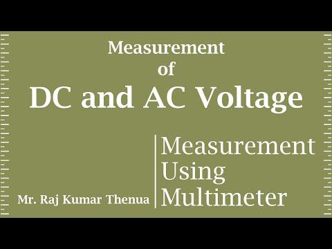 Voltage Measurement using Multimeter (Hindi)