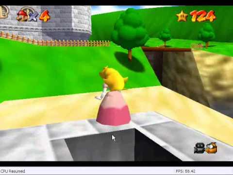 play as peach in super mario 64