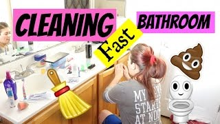 HOW TO CLEAN YOUR BATHROOM FAST WHEN IN A HURRY|BATHROOM CLEANING ROUTINE